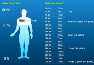 L'eau représente 70 % du corps (image fullspike.com)