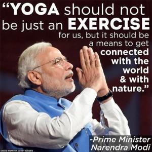 Narendra Modi est un adepte du Yoga