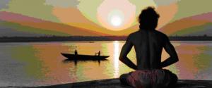 Yoga au bord du Gange