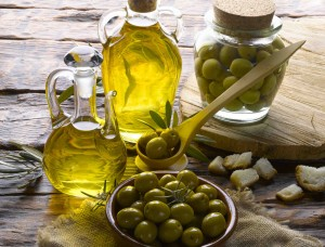 L'huile d'olive tient en température