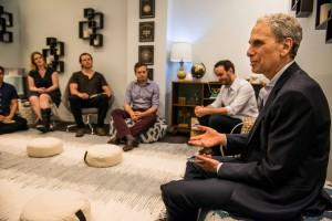 Séance de méditation en groupe