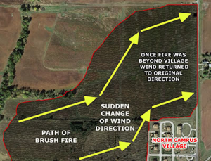 Les vents on tourné lors de l'incendie de Fairfield (mars 2015)