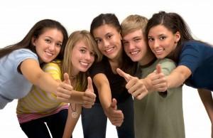 Les ados aiment être en groupe