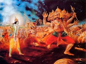 Rama affrontant Ravana