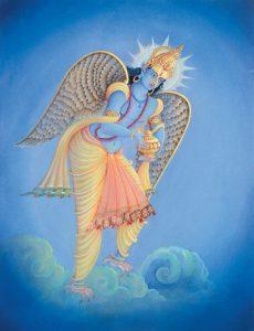 Indra jettant l'Amrit