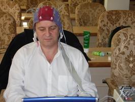 Mesure d'EEG sur Philippe Chauvancy
