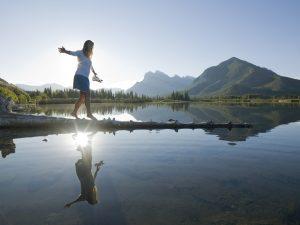 Marcher au bord de l'eau apaise Pitta